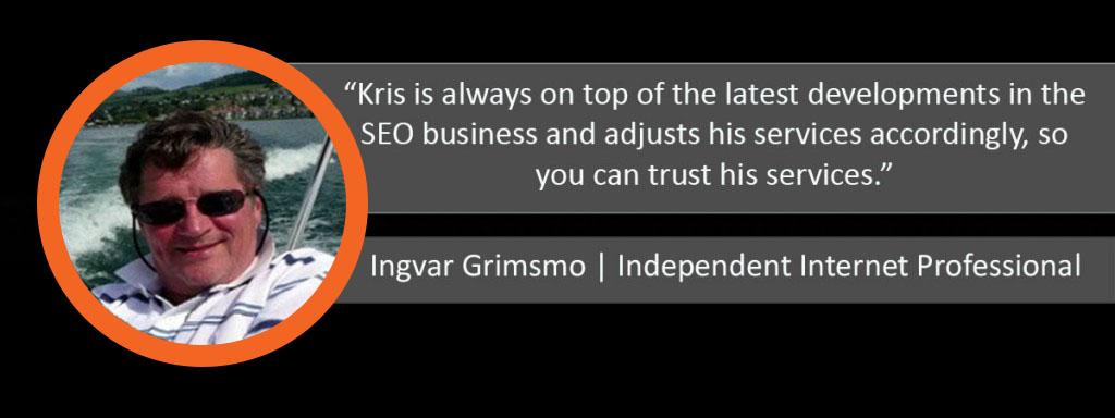 Ingvar Grimsmo Ardor Media Factory Testimonial