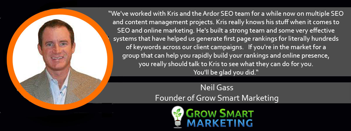 Neil Gass Ardor Media Factory Testimonial